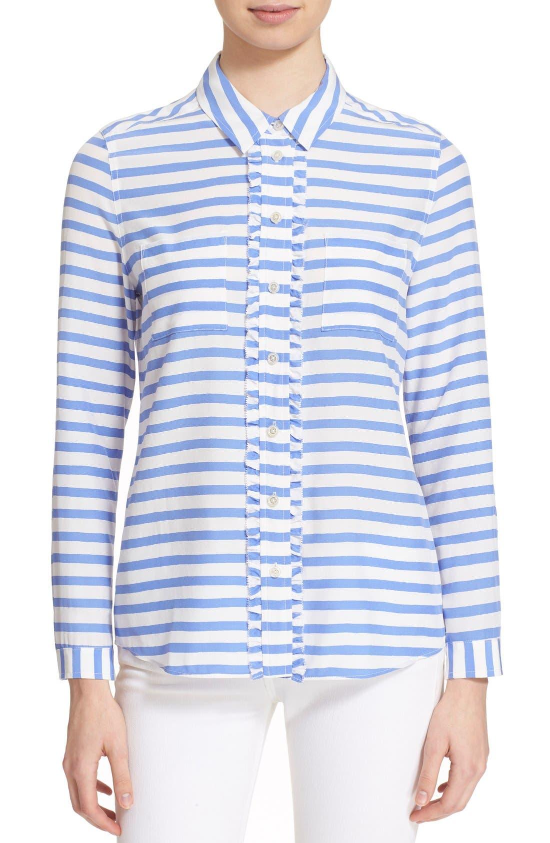 Alternate Image 1 Selected - kate spade new york stripe shirt