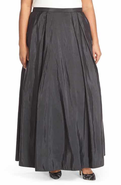 Alex Evenings Taffeta Ballgown Skirt (Plus Size)