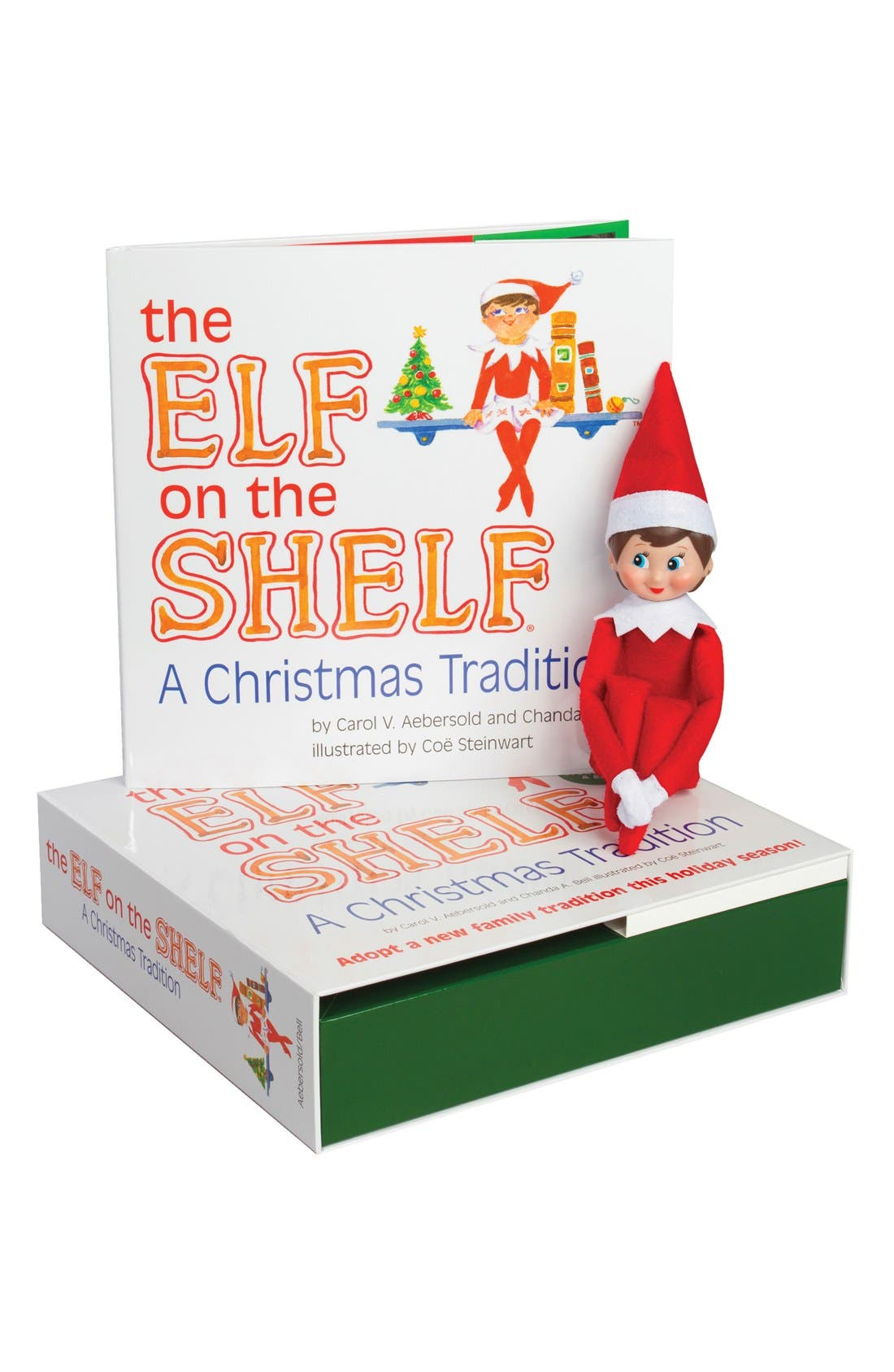 Carol Aebersold and Chanda Bell 'The Elf on the Shelf<sup>®</sup>: A Christmas Tradition<sup>™</sup>' Book & Elf,                         Main,                         color, Light Skin Girl Elf