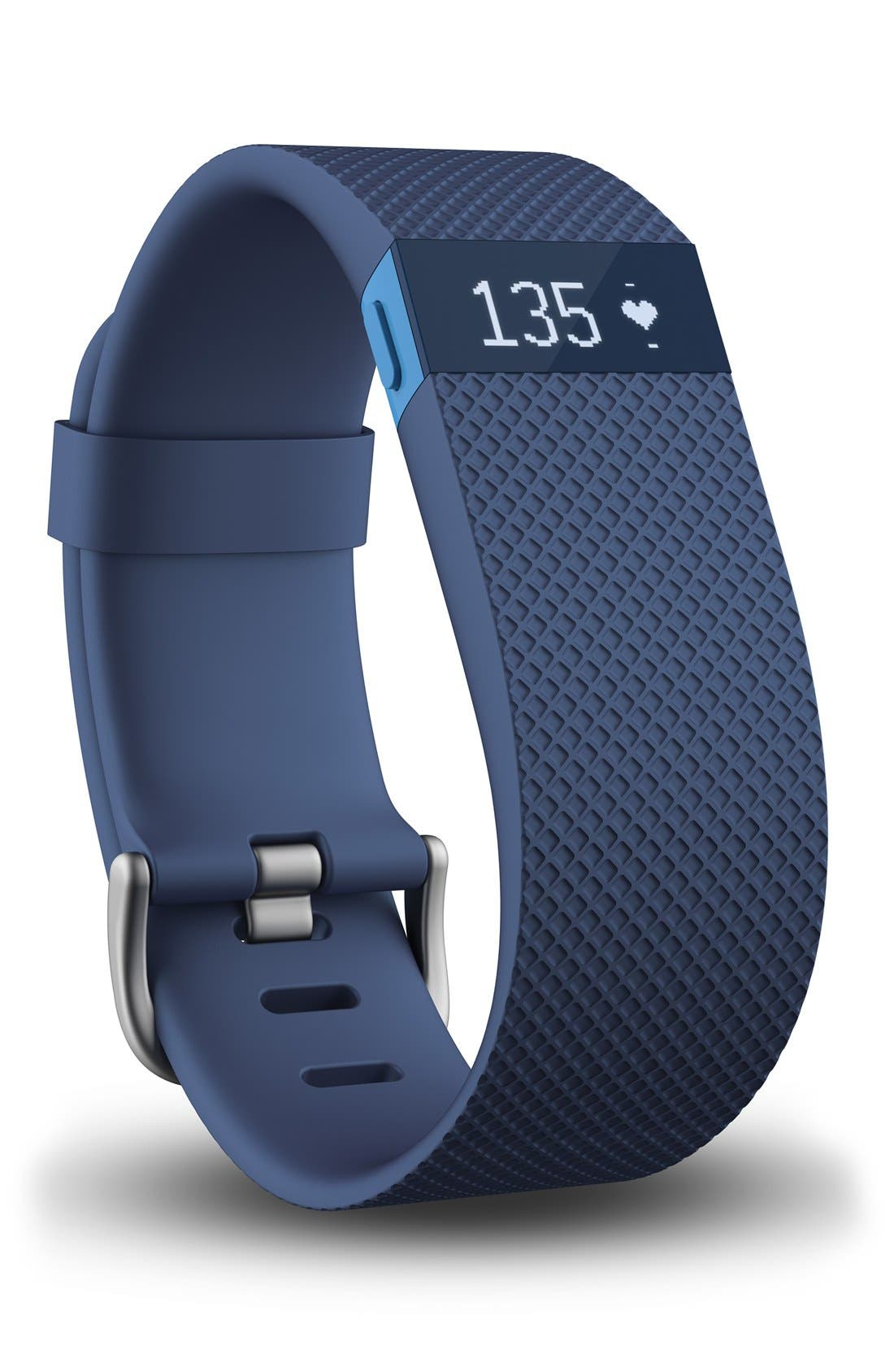 Charge HR Wireless Activity & Heart Rate Tracker,                         Main,                         color, Blue