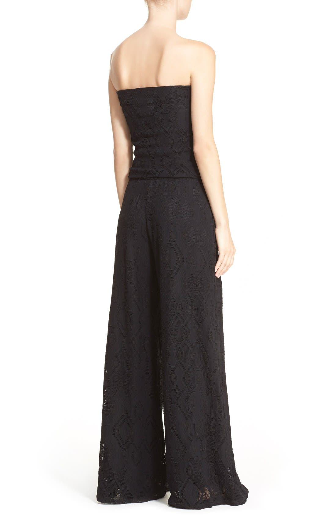 Alternate Image 2  - Fuzzi Strapless Lace Jumpsuit