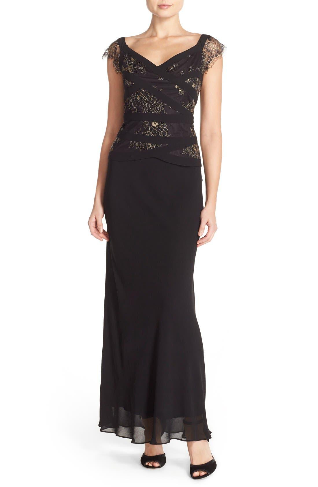 Alternate Image 1 Selected - Alex Evenings Mock Dress (Regular & Petite)