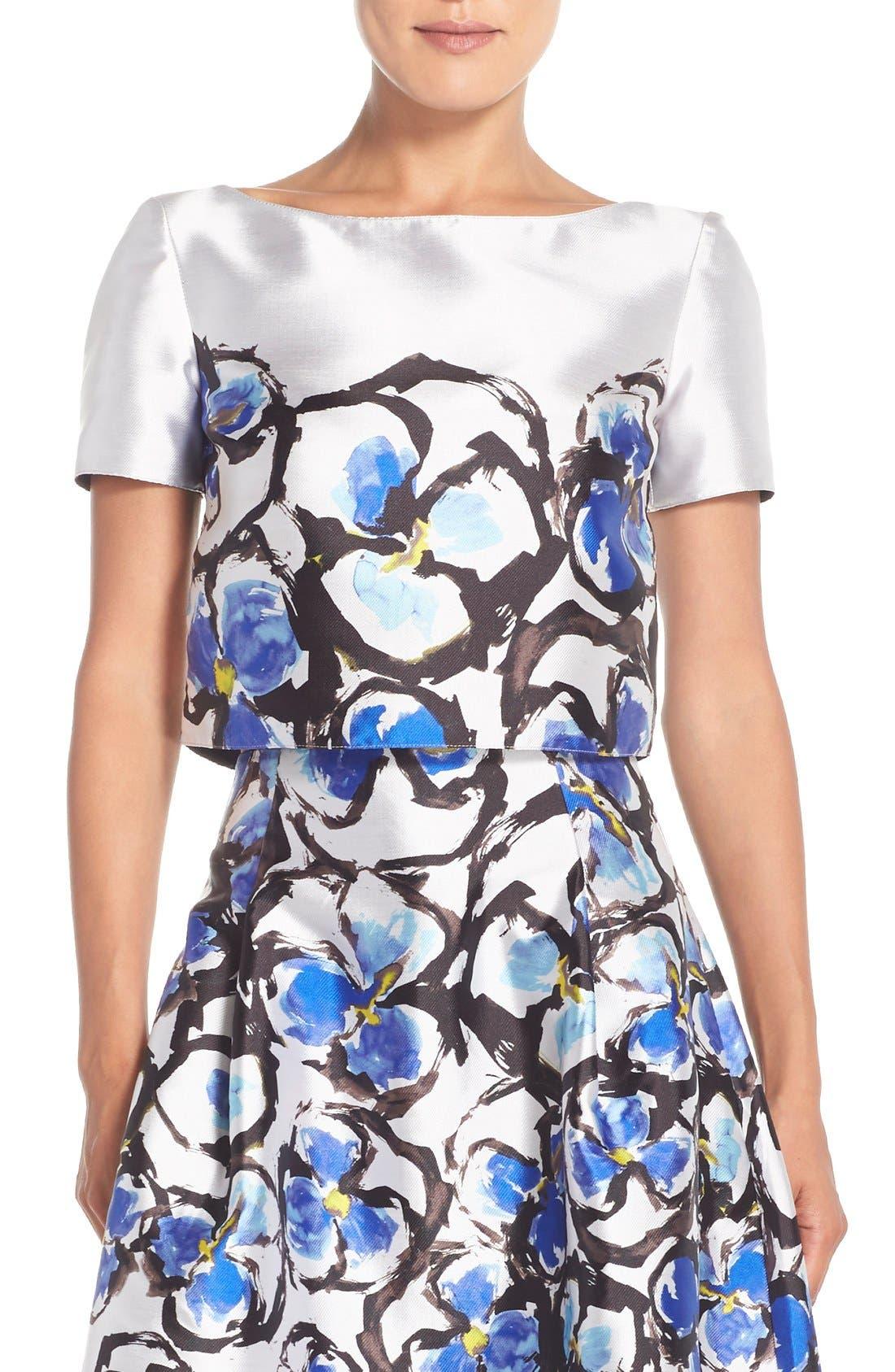 Alternate Image 1 Selected - Sachin & Babi Noir 'Rosie' Floral Crop Top