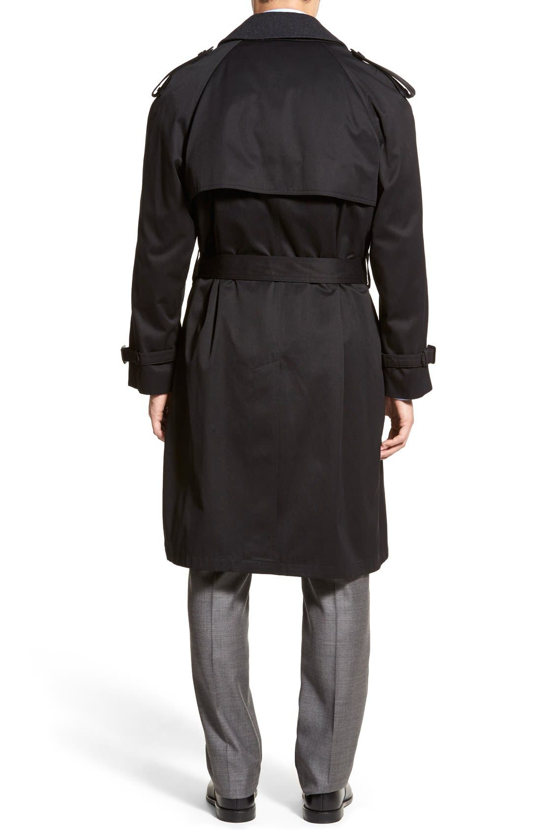 Barrington Classic Fit Cotton Blend Trench Coat,                             Alternate thumbnail 2, color,                             Black