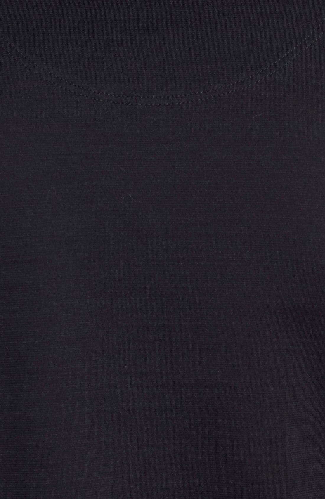 'Tyson' V-Neck Long Sleeve T-Shirt,                             Alternate thumbnail 5, color,                             Black