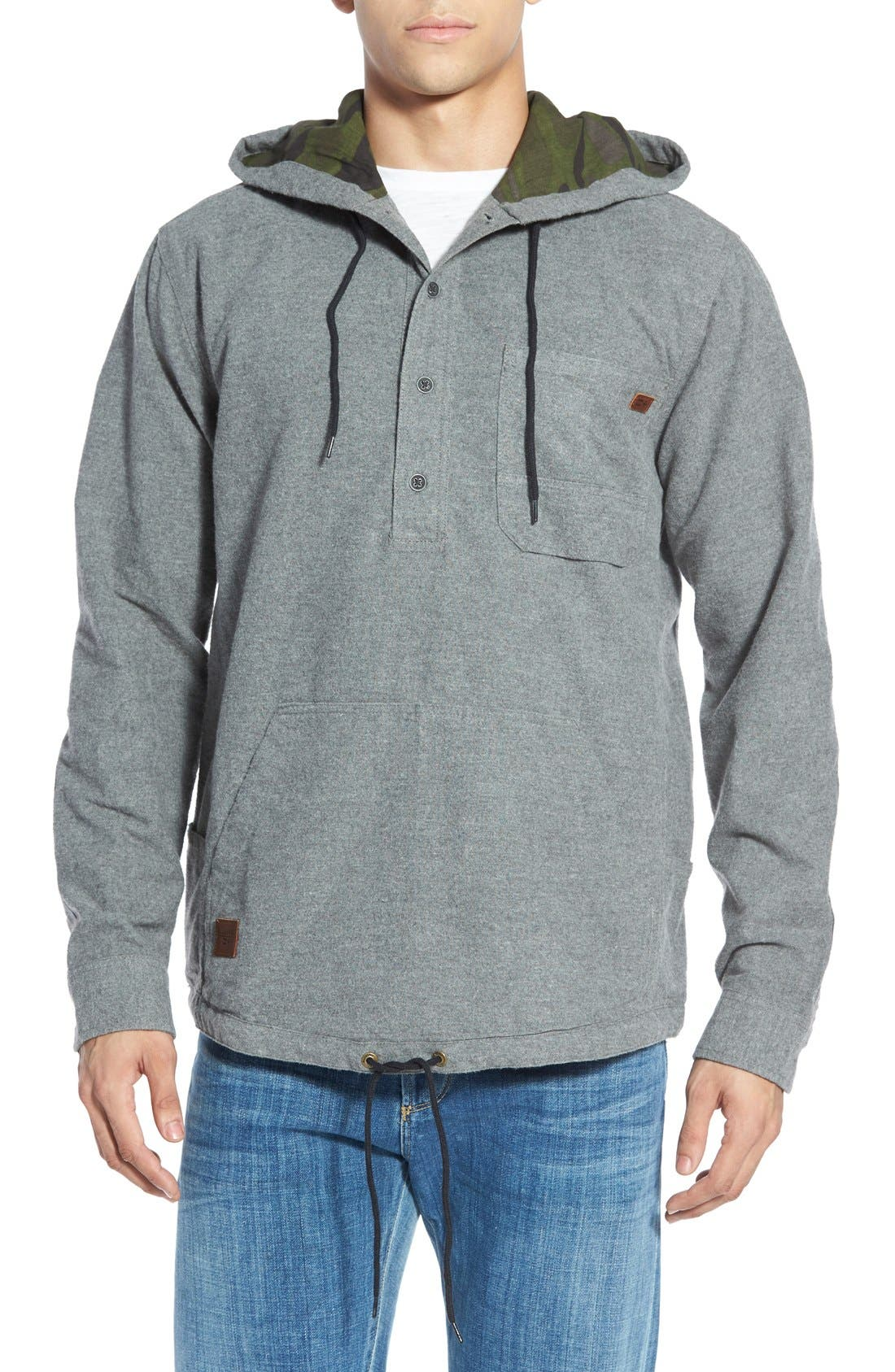 Billabong 'Rover' Core Fit Flannel Pullover Hoodie | Nordstrom