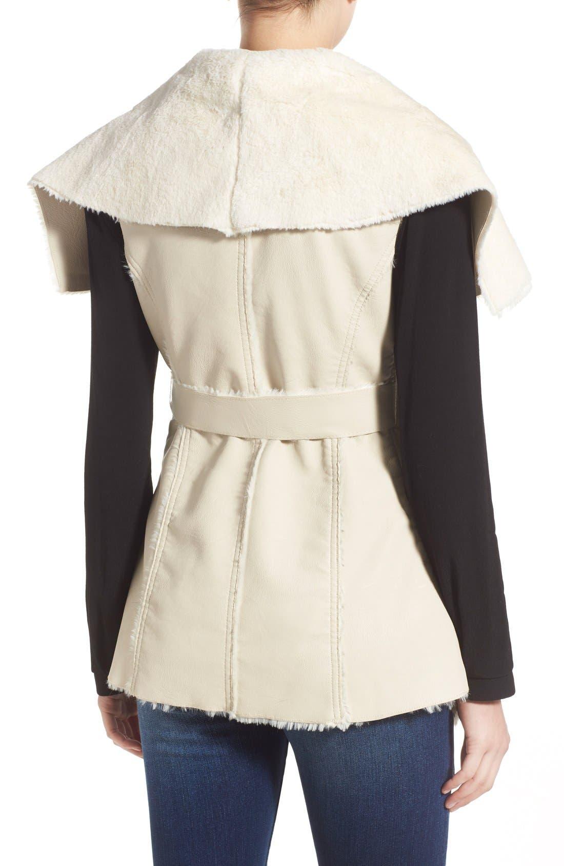 Alternate Image 2  - BLANKNYC 'Trooper' Faux Shearling Wrap Vest