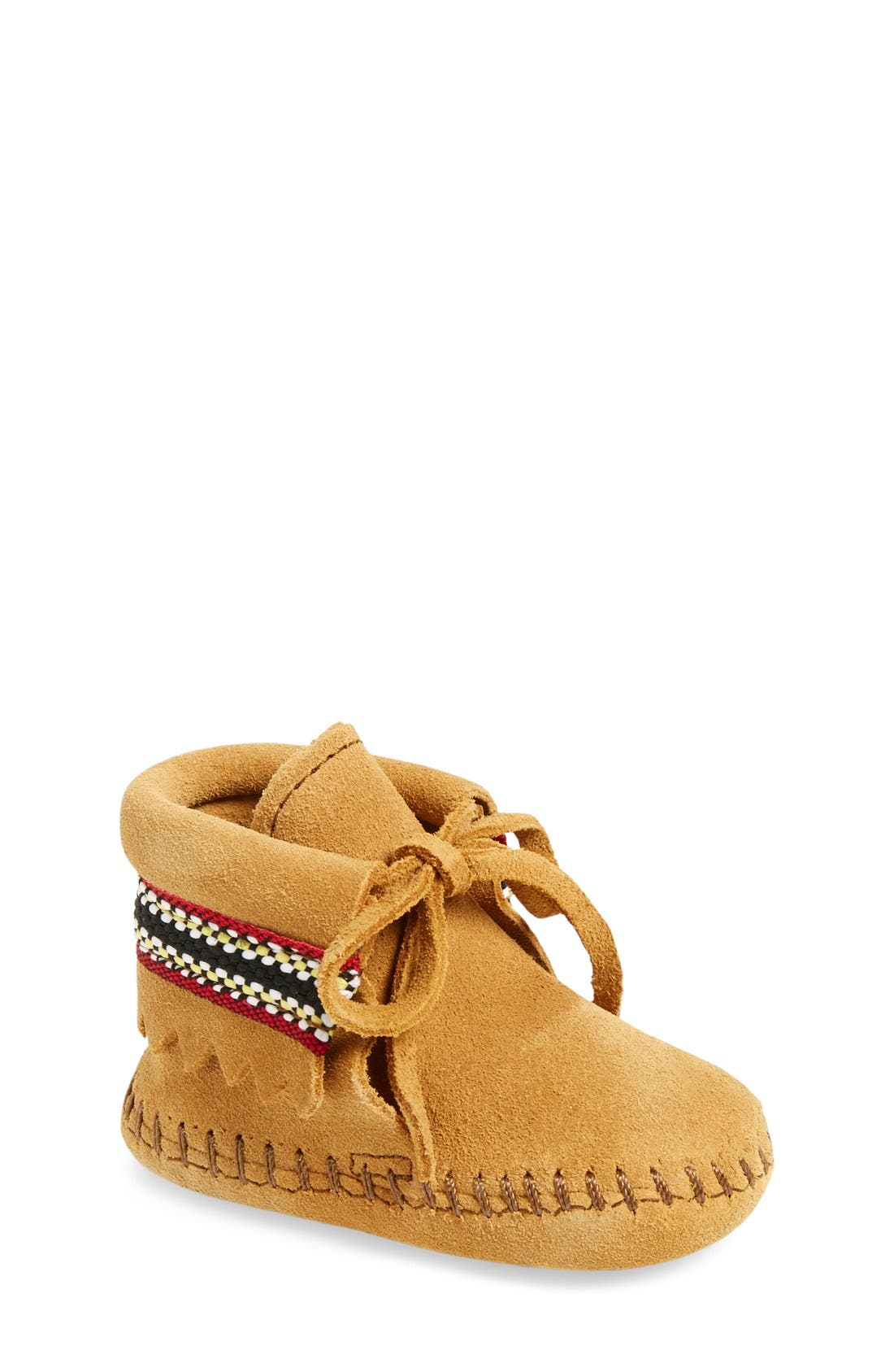 Alternate Image 1 Selected - Minnetonka Braid Bootie (Baby & Walker)