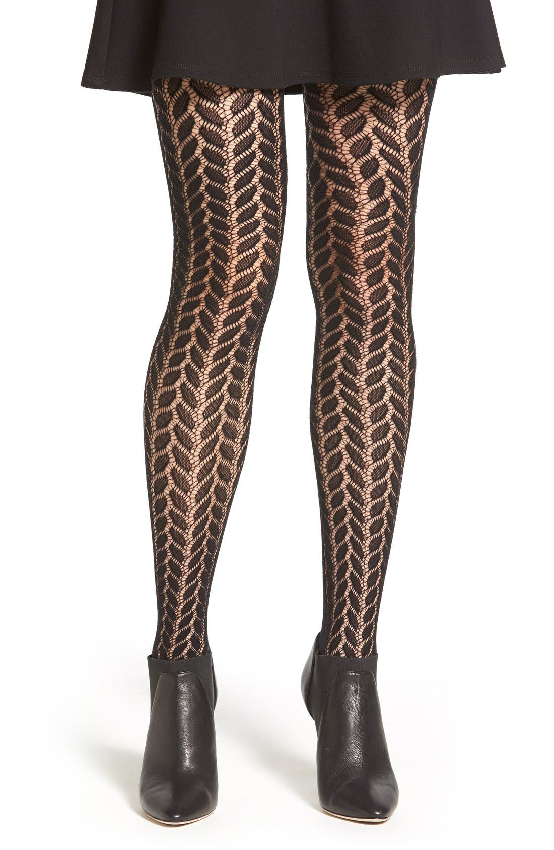 Alternate Image 1 Selected - Emilio Cavallini Open Knit Tights