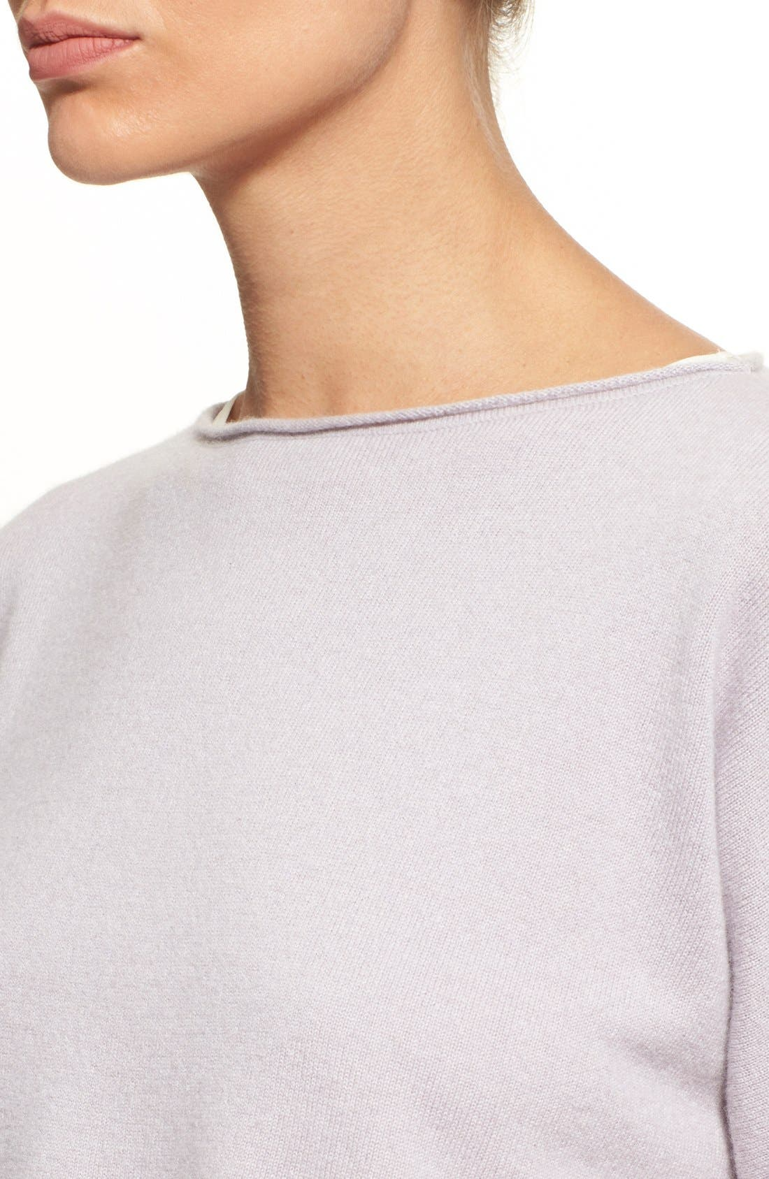 Alternate Image 6  - Fabiana Filippi Contrast Hem Cashmere & Stretch Silk Top