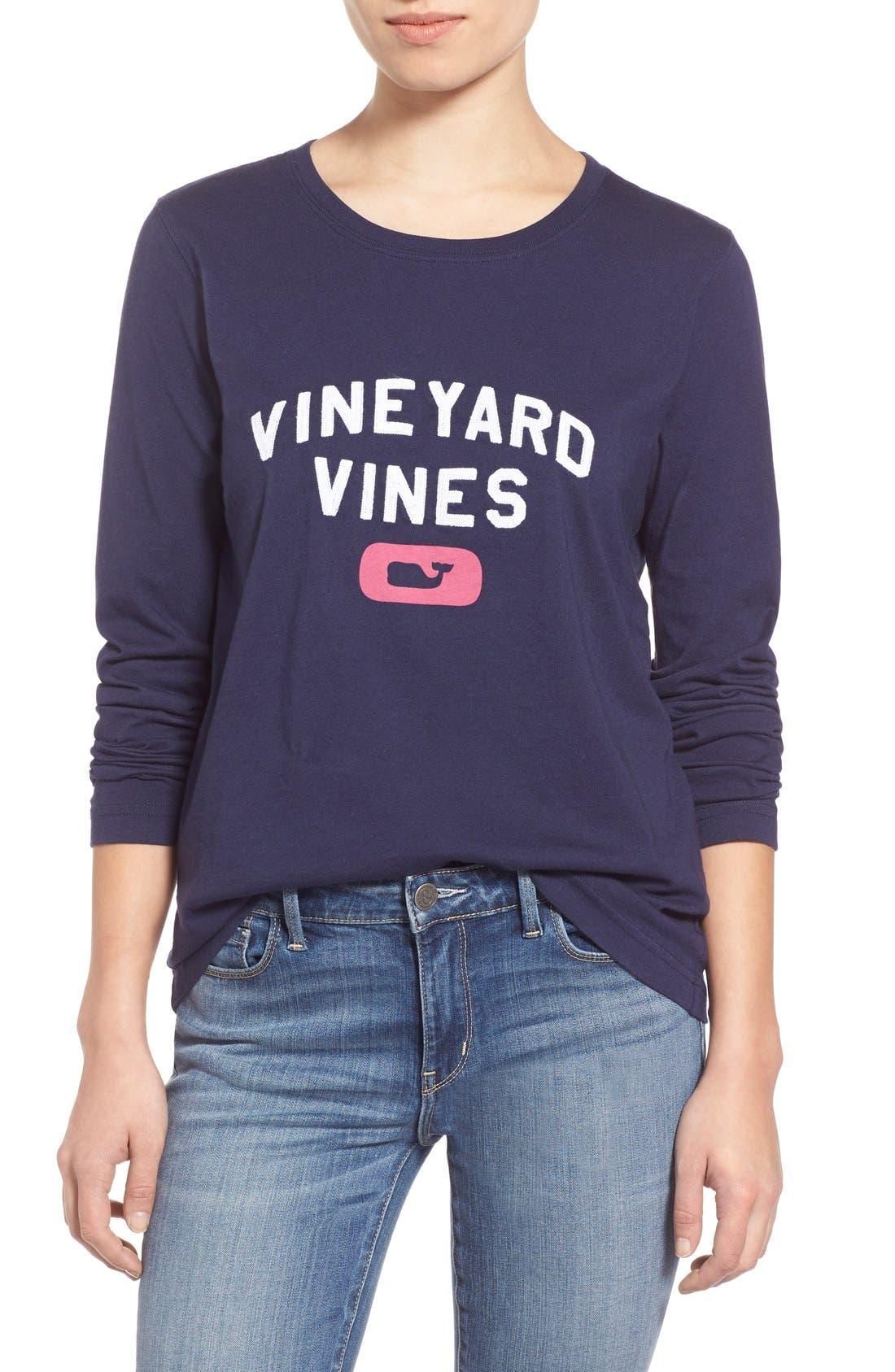 Main Image - Vineyard Vines 'Collegiate' Long Sleeve Tee