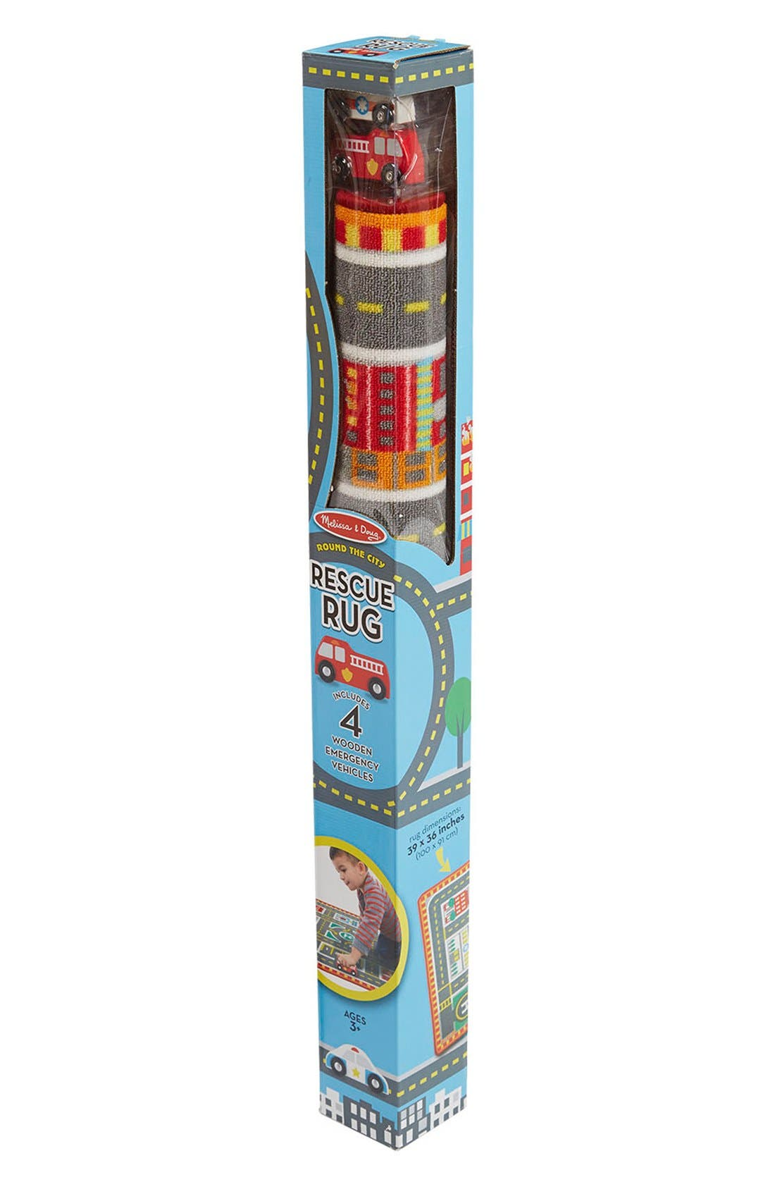 Alternate Image 2  - Melissa & Doug 'Round The City' Play Rug & Rescue Vehicles
