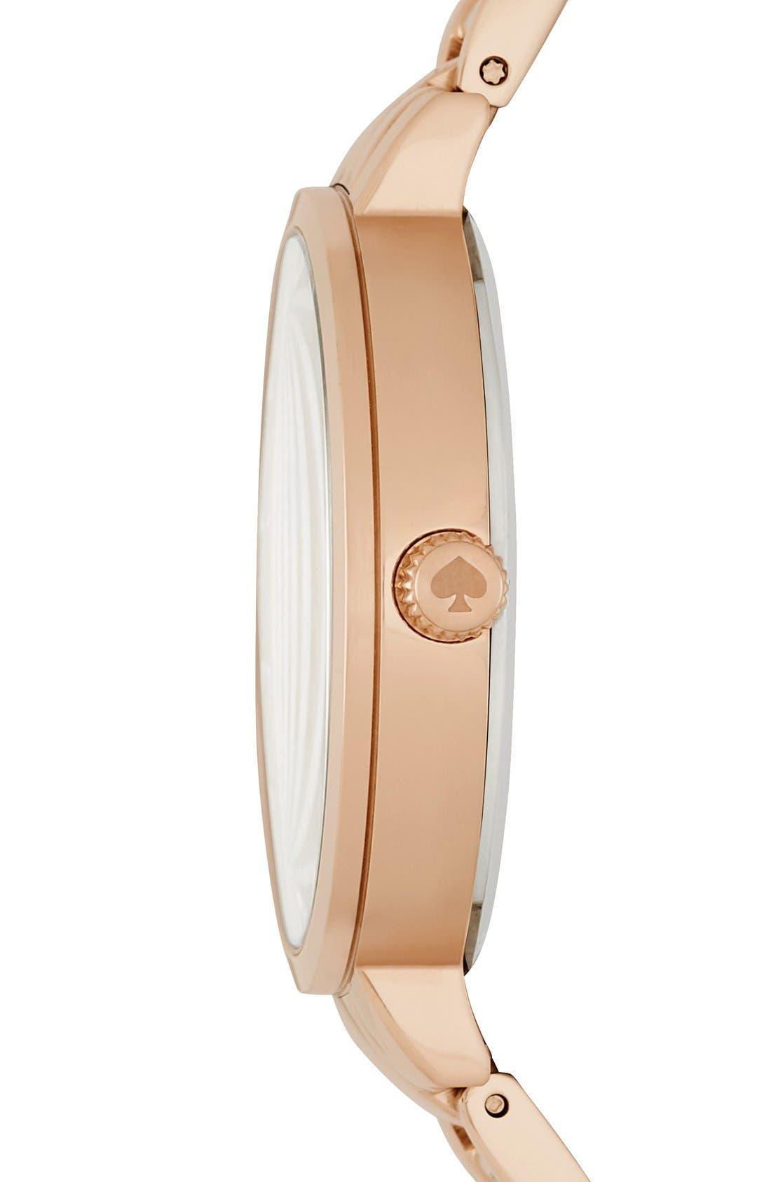 Alternate Image 3  - kate spade new york bracelet watch, 34mm