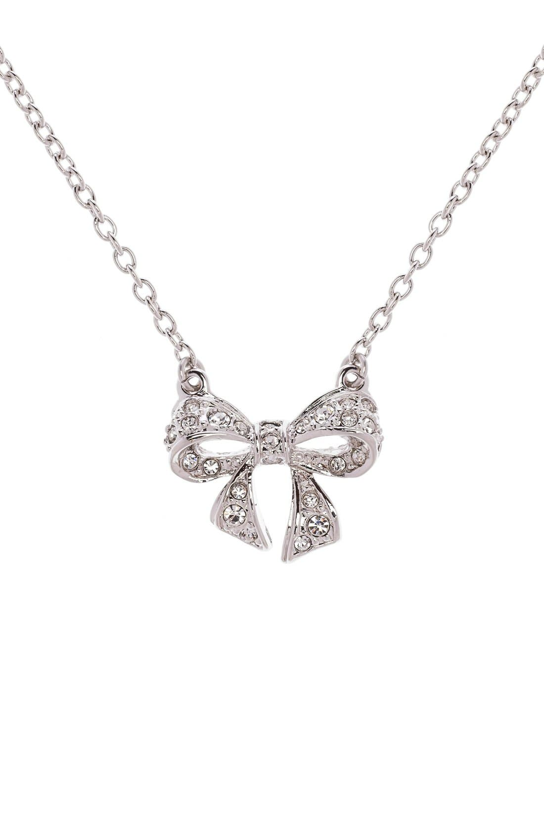 Main Image - Ted Baker London 'Pepena' Crystal Bow Pendant Necklace
