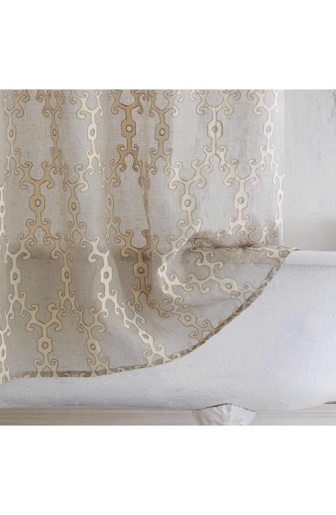 'Totem' Shower Curtain,                             Alternate thumbnail 2, color,                             Ivory/ Linen