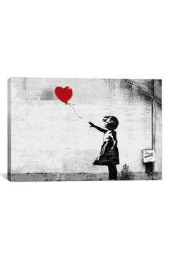 Icanvas girl with balloon giclée print canvas art