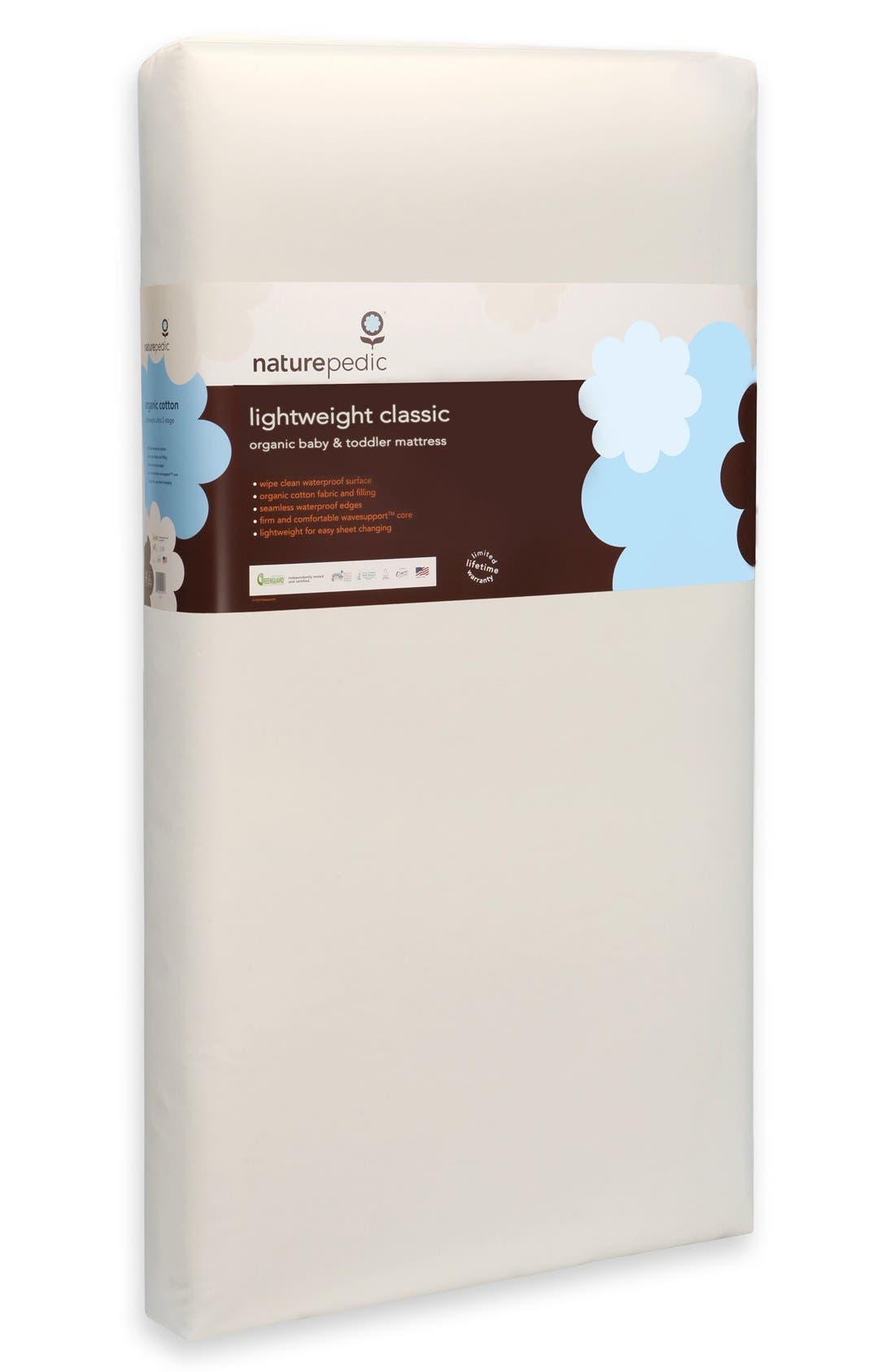 Alternate Image 2  - Naturepedic Lightweight Organic Cotton Classic Crib Mattress