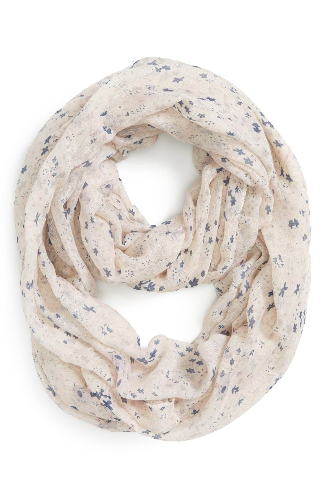 Alternate Image 1 Selected - BP. Speckled Floral Infinity Scarf