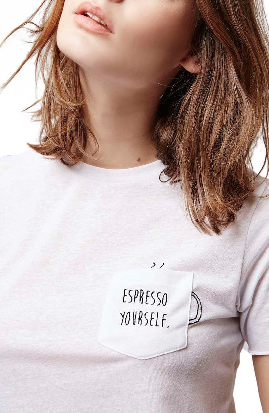 Alternate Image 5  - Topshop 'Espresso Yourself' Pocket Tee