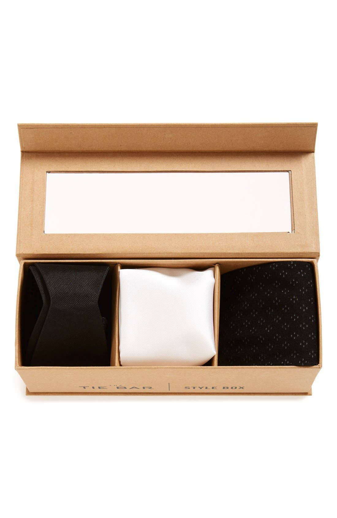 Small Style Box,                             Alternate thumbnail 3, color,                             Black Tie