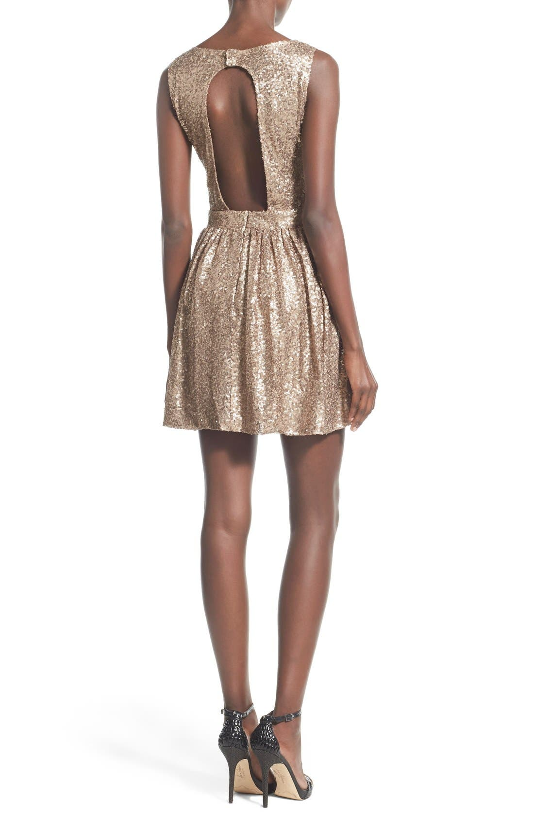 Alternate Image 2  - Raga Sequin Cutout Sleeveless Dress