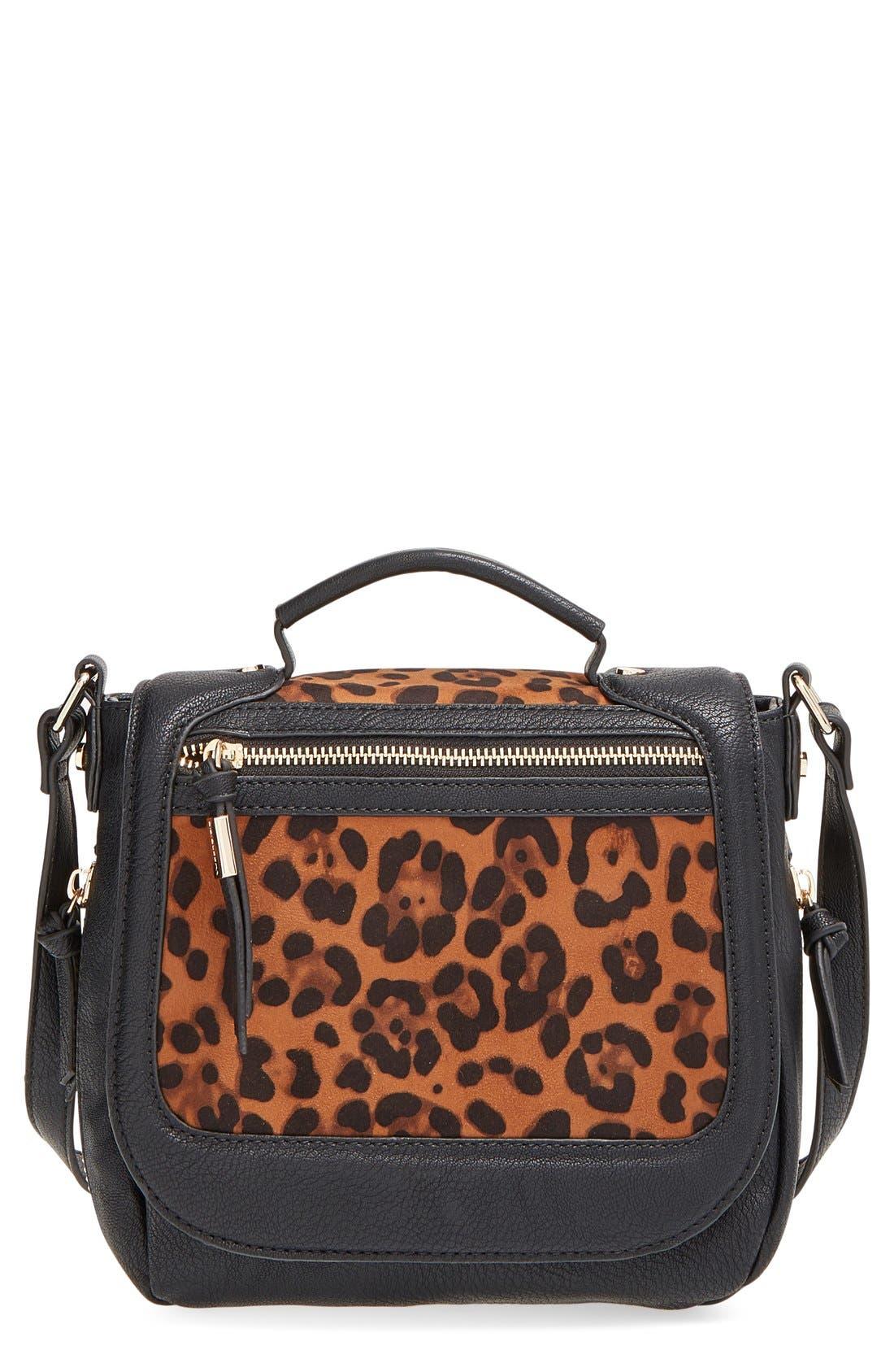 Alternate Image 1 Selected - Big Buddha 'ZJane' Faux Leather Crossbody Flap Bag