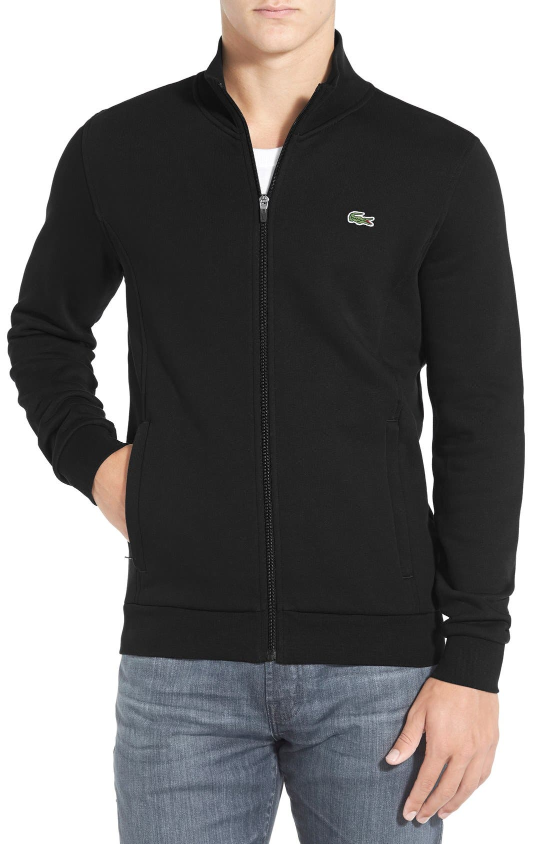 Main Image - Lacoste 'Sport' Mock Neck Zip Sweatshirt