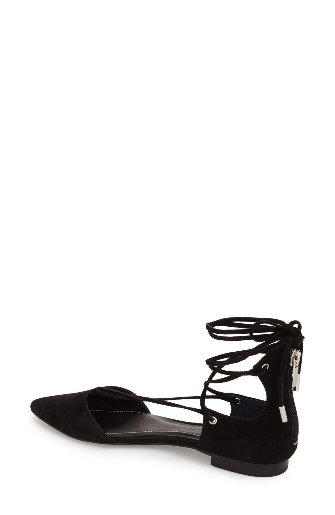 Alternate Image 2  - KENDALL + KYLIE 'Sage' Pointy Toe Ghillie Flat (Women)