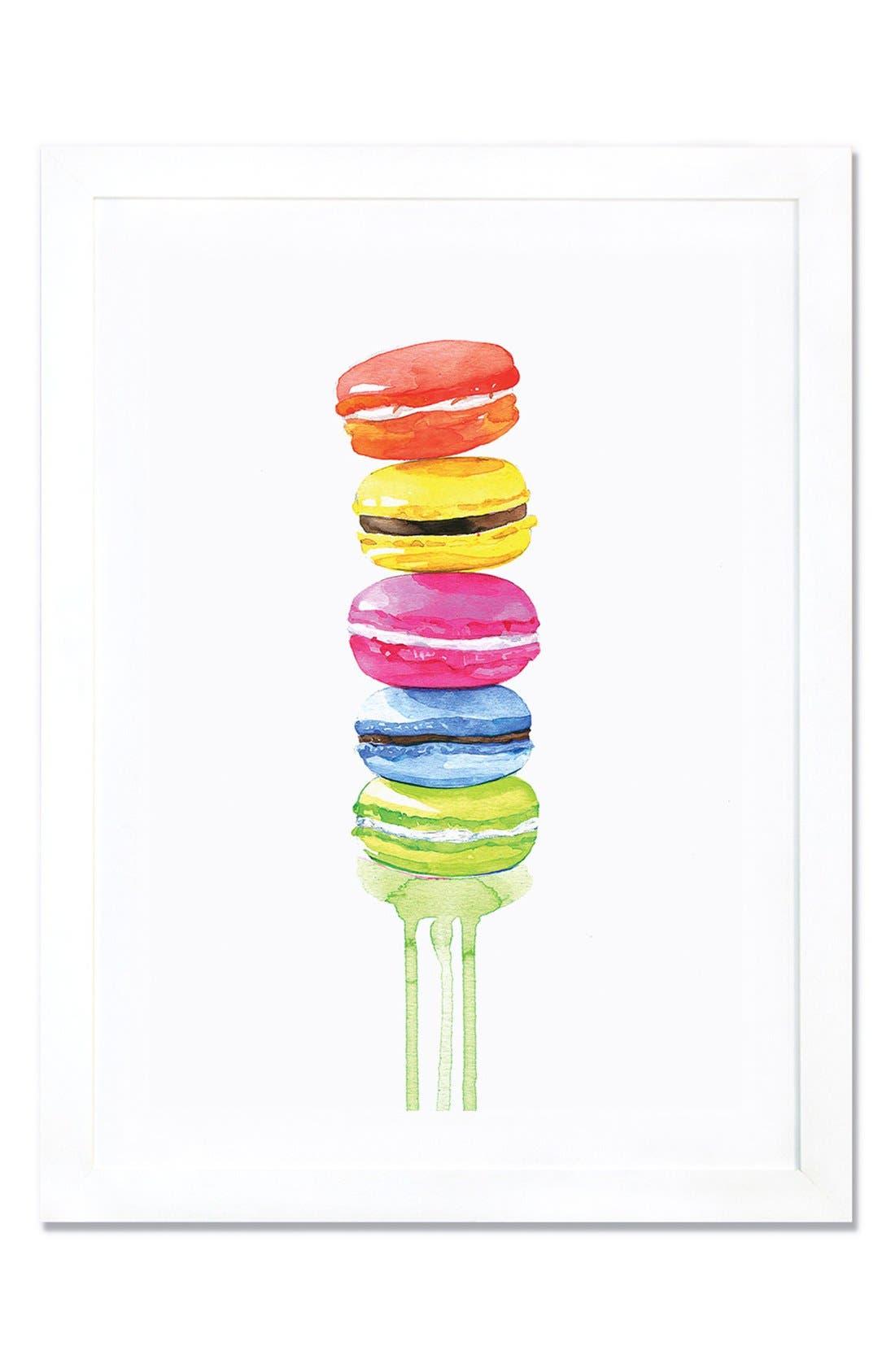 Alternate Image 1 Selected - iCanvas 'Macarons' Framed Fine Art Print