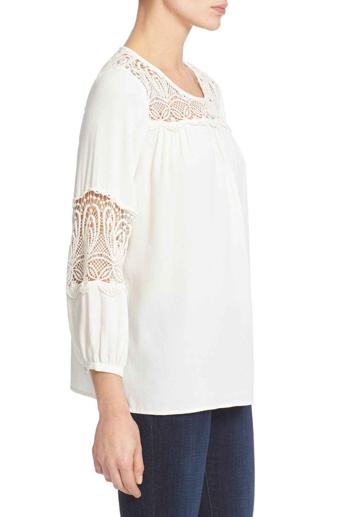 Alternate Image 3  - Joie 'Coastal' Lace Inset Blouse