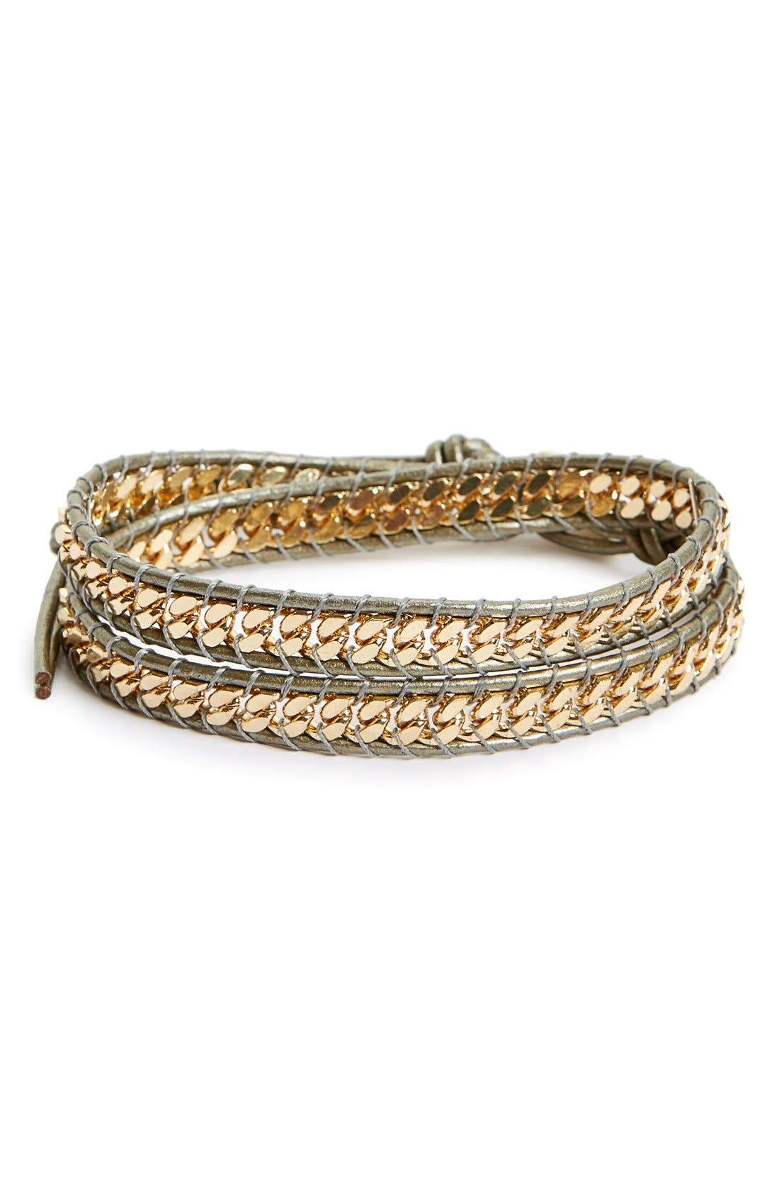 Main Image - Panacea Curb Chain Wrap Bracelet