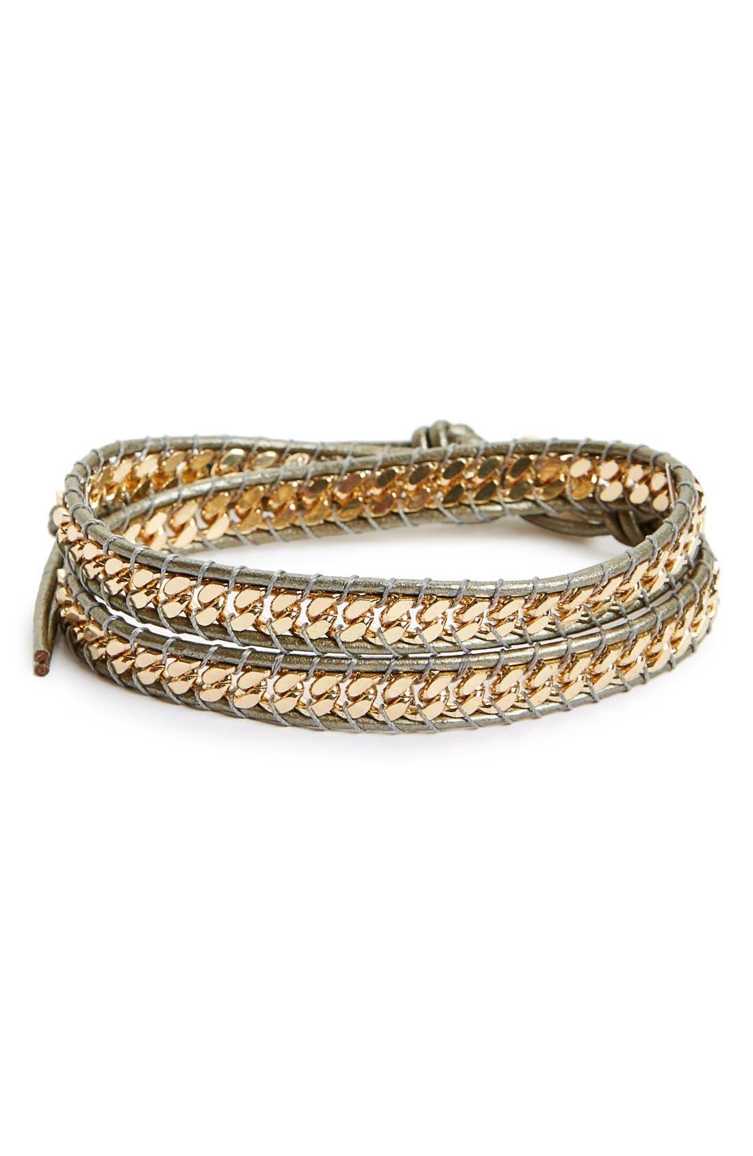 Panacea Curb Chain Wrap Bracelet