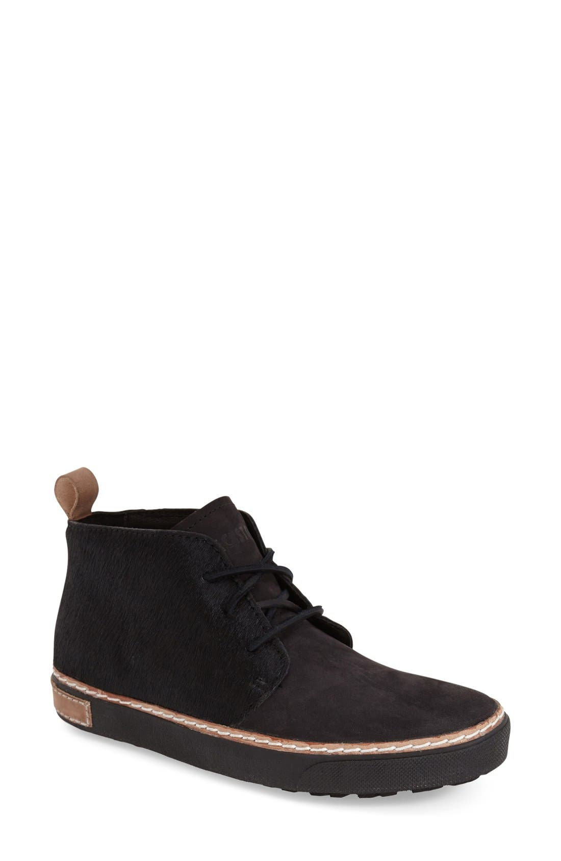Genuine Calf Hair Chukka Sneaker,                         Main,                         color, Black Leather