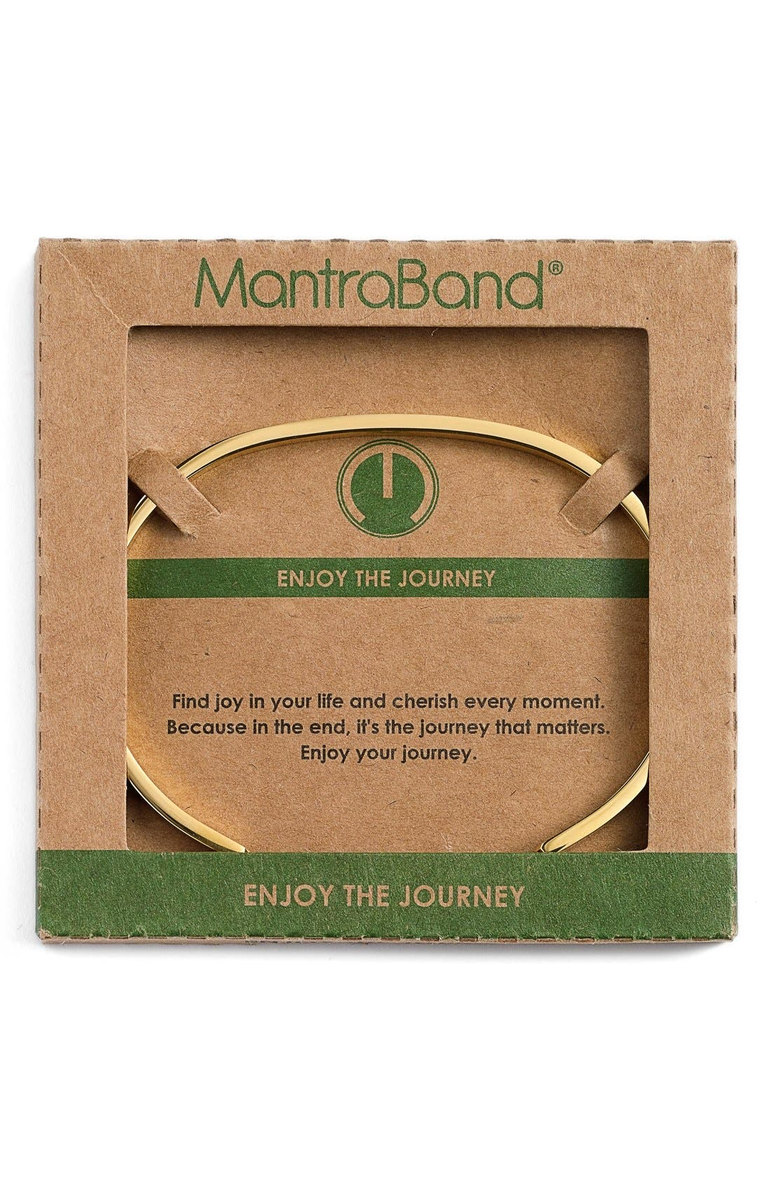 'Enjoy the Journey' Cuff,                             Alternate thumbnail 2, color,                             Gold