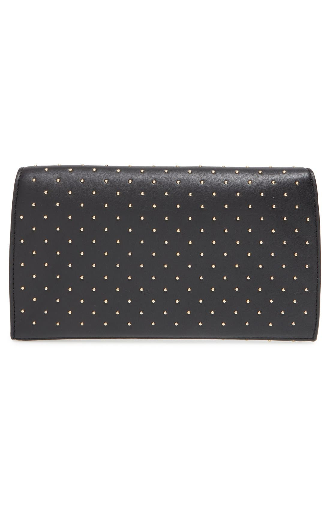 Alternate Image 3  - Diane von Furstenberg '440 Glory Uptown' Studded Leather Clutch