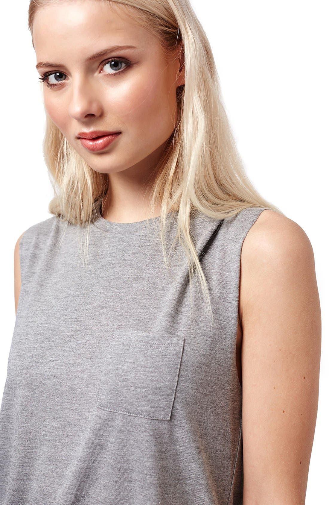 Alternate Image 6  - Topshop Relaxed Fit Pocket Tank