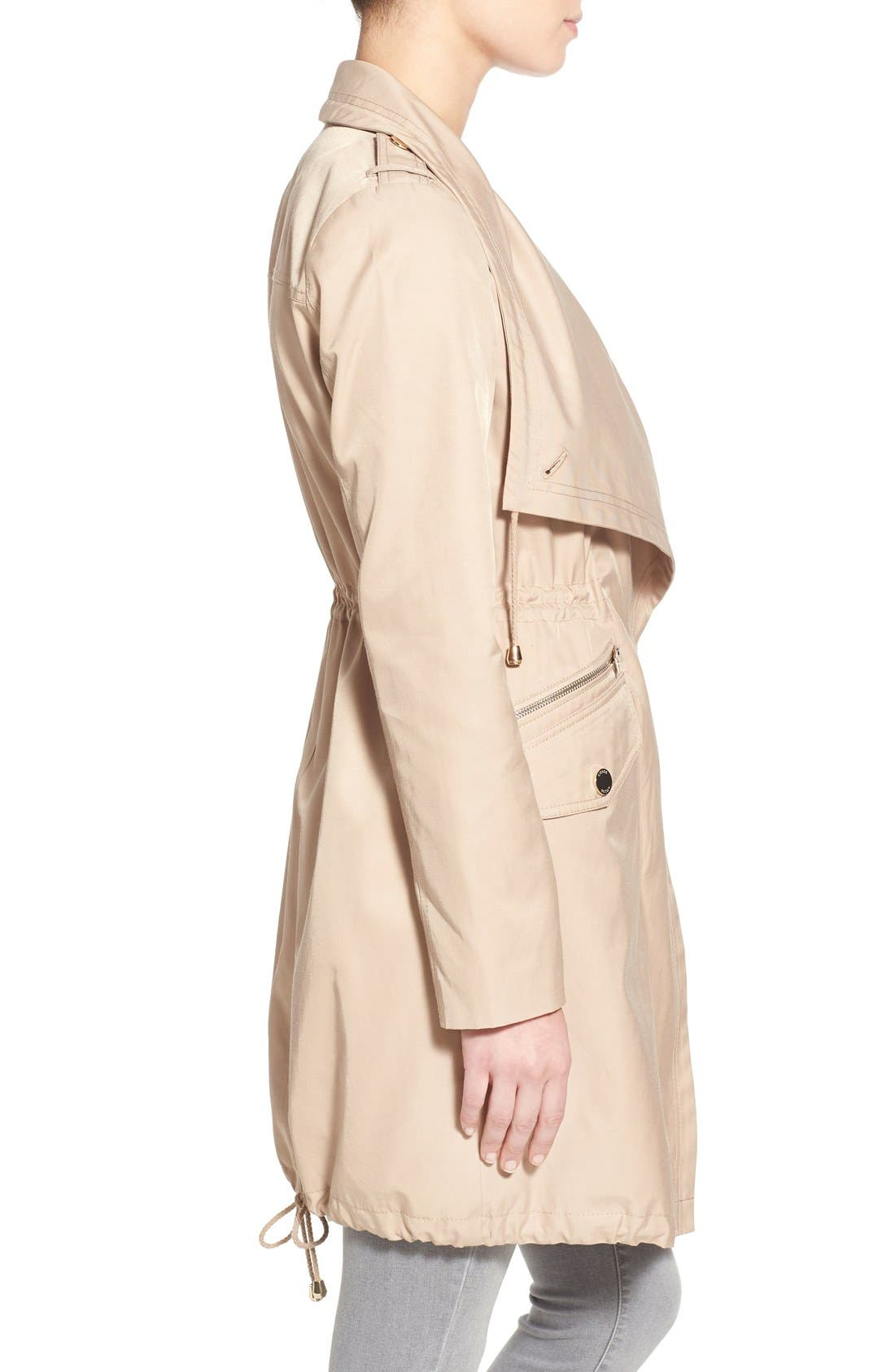 Alternate Image 3  - GUESS Draped Asymmetrical Zip Anorak