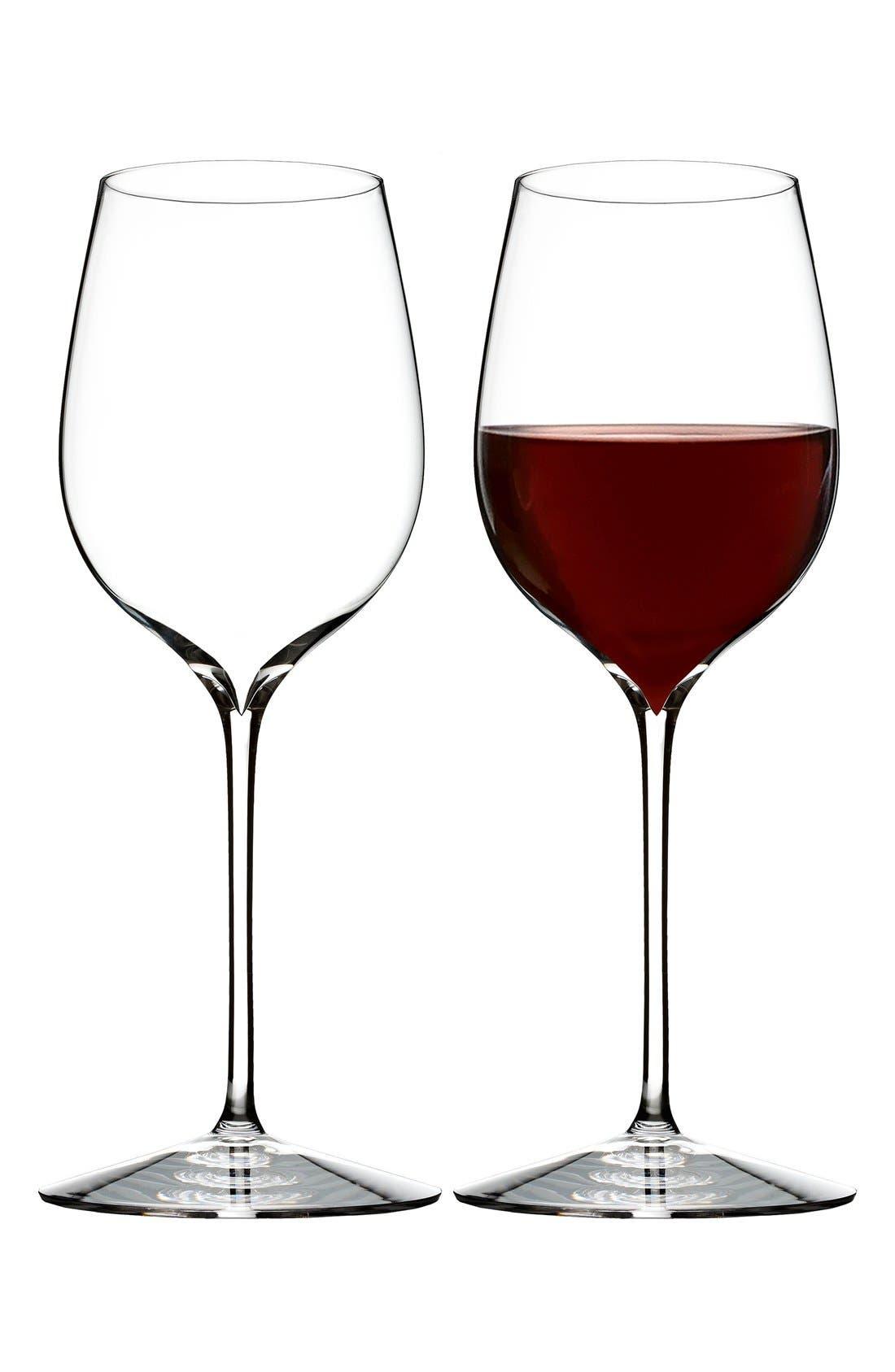 'Elegance' Fine Crystal Pinot Noir Glasses,                             Alternate thumbnail 2, color,                             Clear