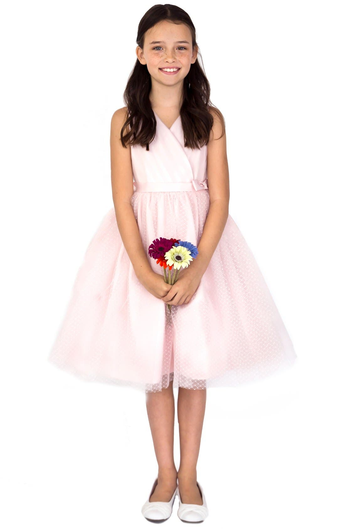 Main Image - Us Angels Pleated Dress (Toddler Girls, Little Girls & Big Girls)