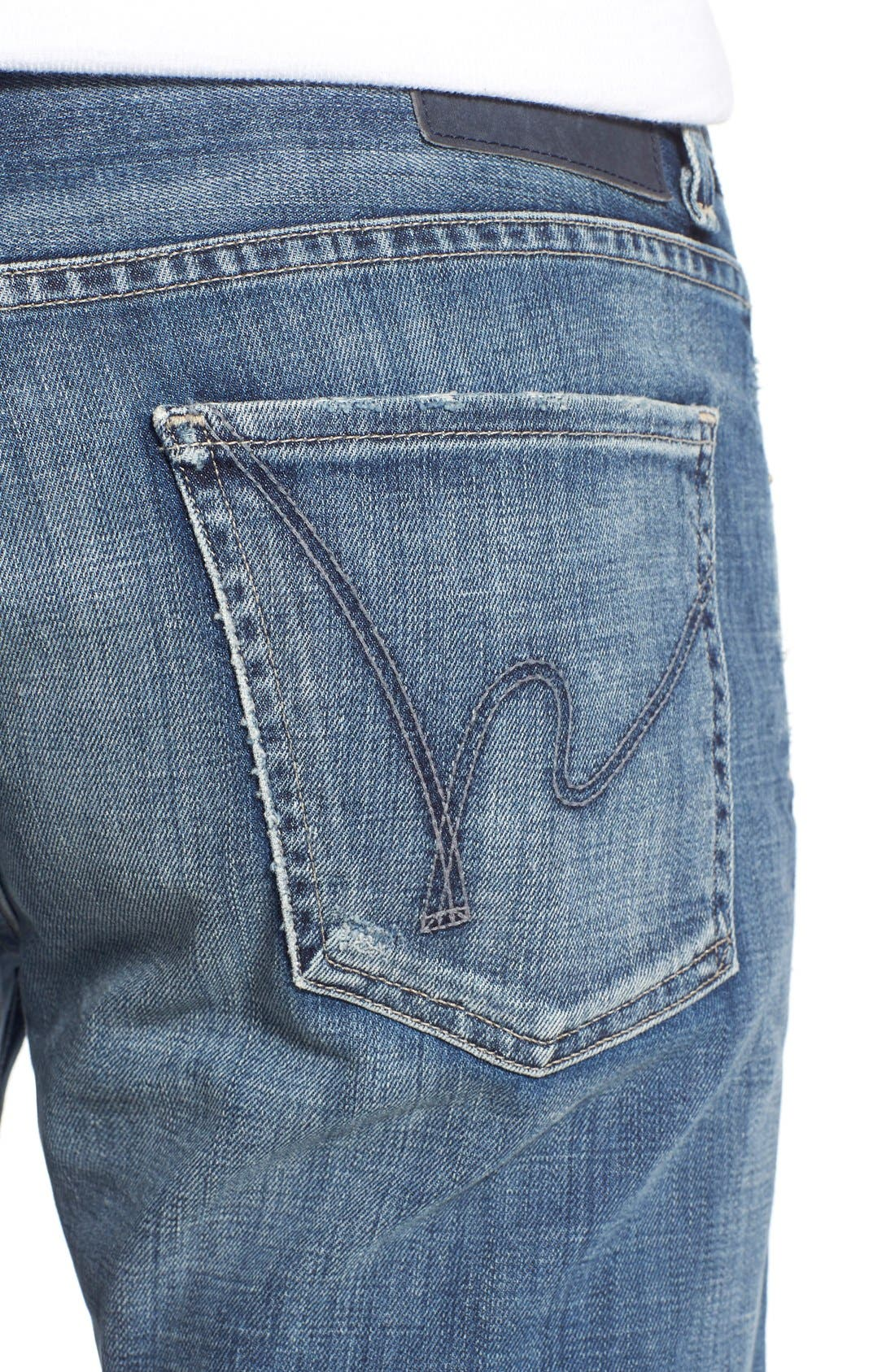 'Sid' Straight Leg Jeans,                             Alternate thumbnail 4, color,                             Ripley