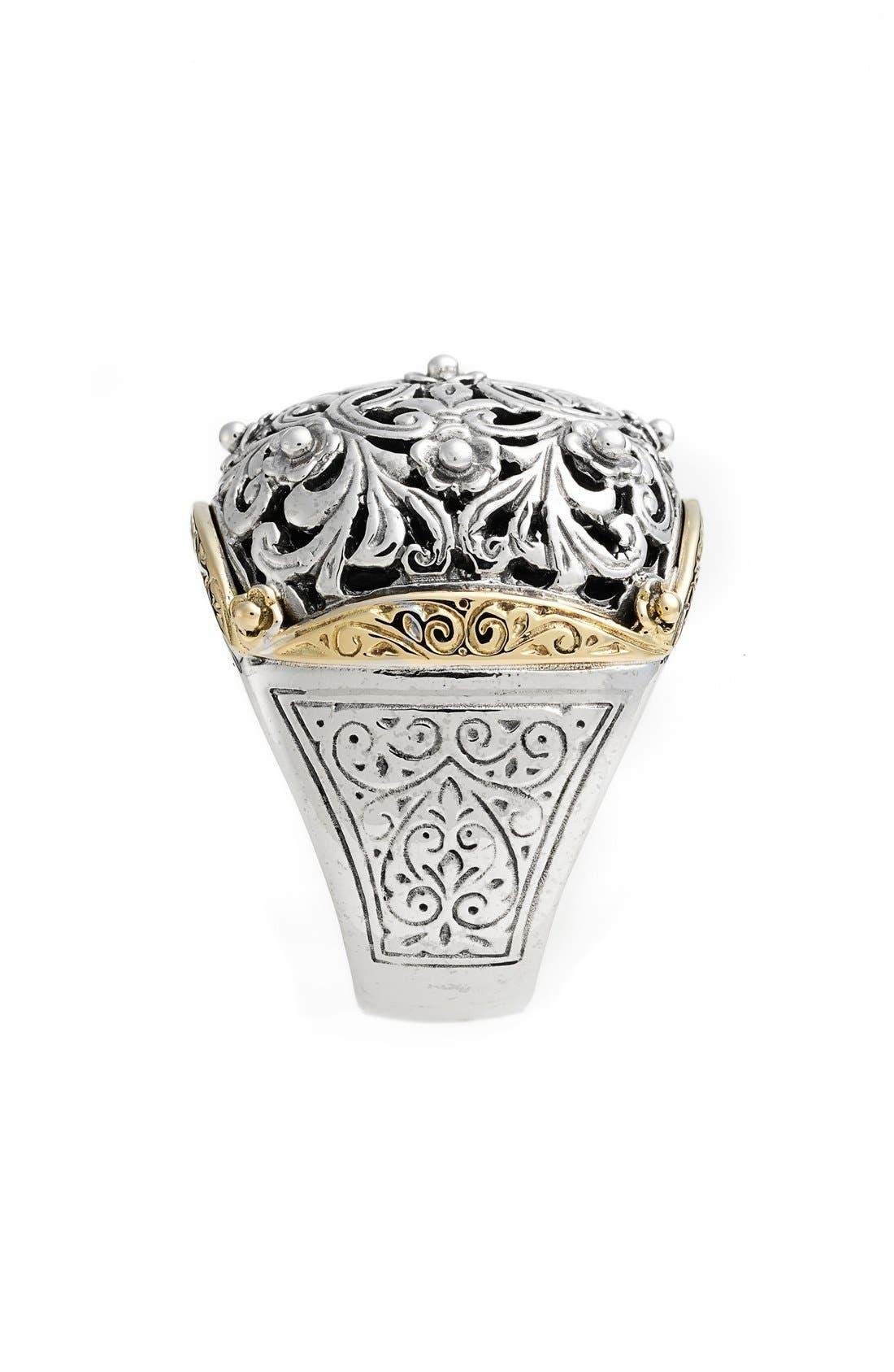 'Silver & Gold Classics' Filigree Ring,                             Alternate thumbnail 2, color,                             Silver/ Gold