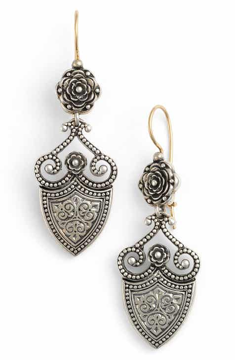 Konstantino Silver Clics Shield Drop Earrings