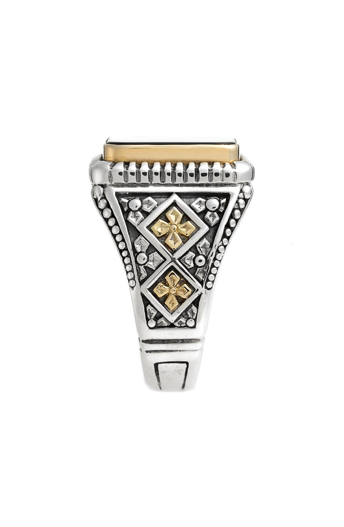Color Classics Semiprecious Stone Ring,                             Alternate thumbnail 2, color,                             Silver