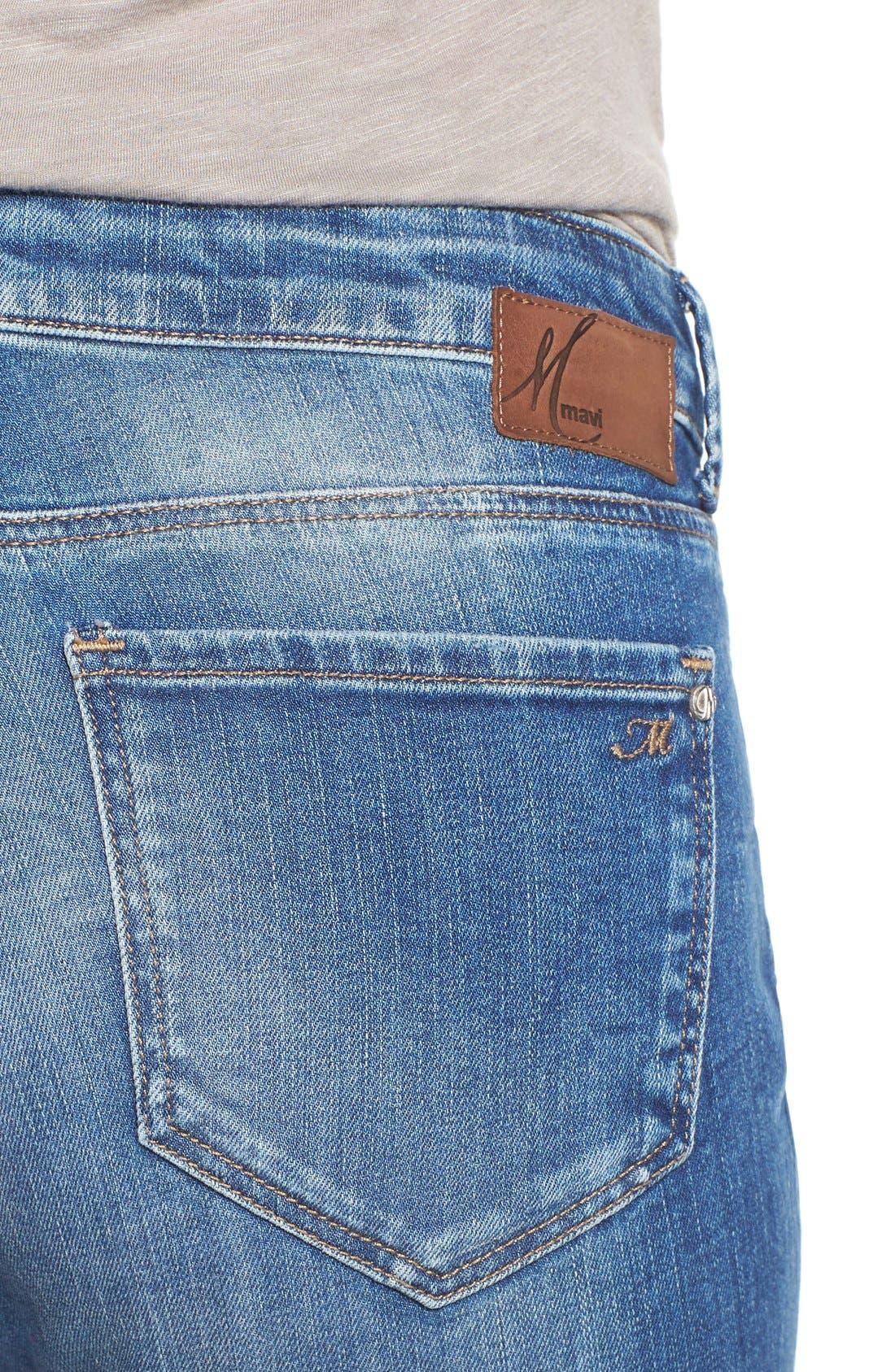 Alternate Image 4  - Mavi Jeans 'Emma' Stretch Slim Boyfriend Jeans (Shaded Vintage)