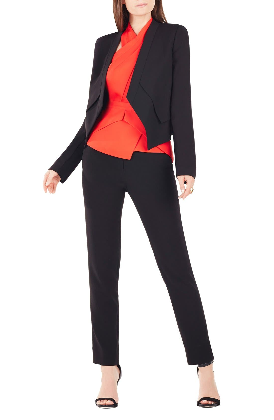 Alternate Image 1 Selected - BCBGMAXAZRIA 'Lloyd' Twill Tuxedo Jacket