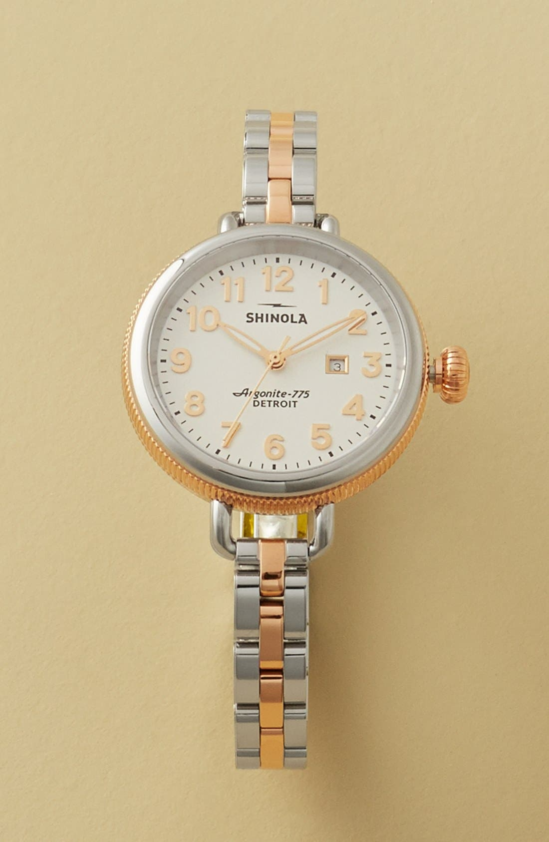 Alternate Image 4  - Shinola 'The Birdy' Bracelet Watch, 34mm