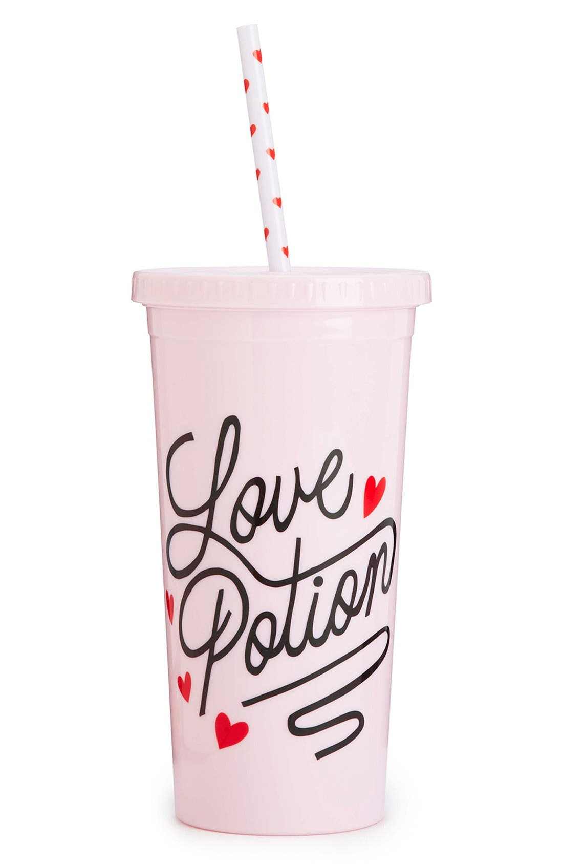 Main Image - ban.do 'Love Potion Sip Sip' Travel Tumbler with Straw