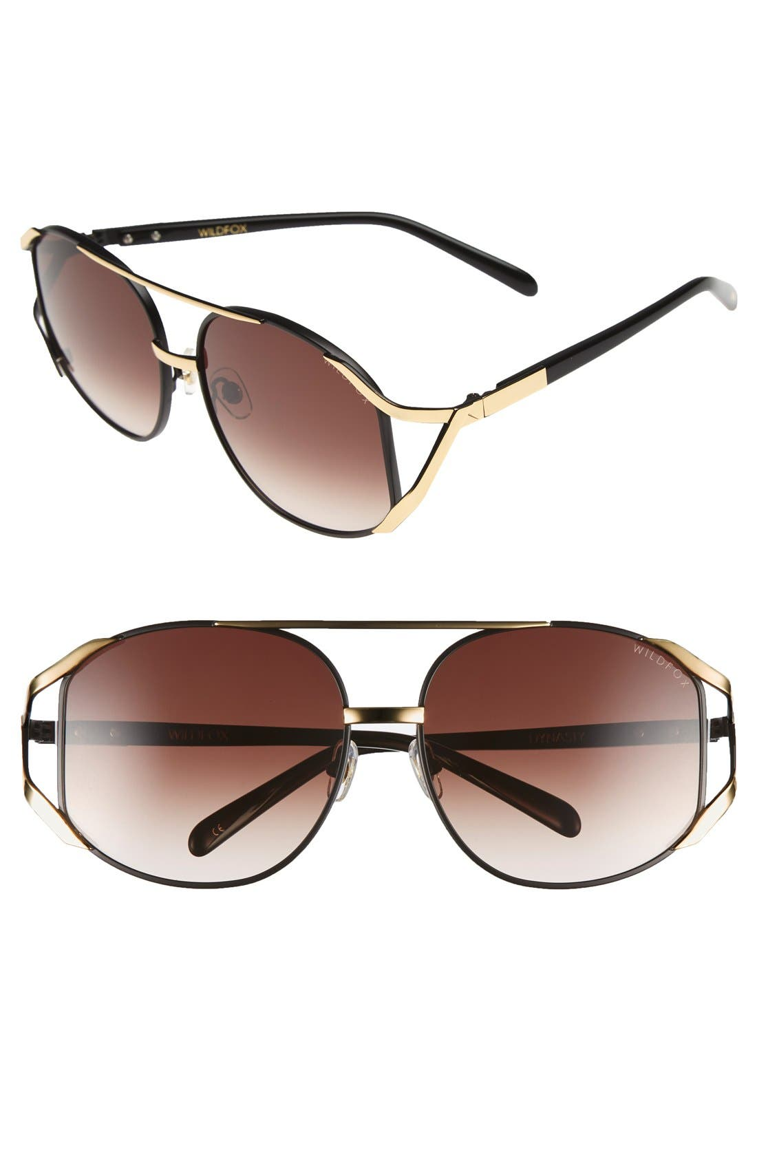 Wildfox 'Dynasty' 59mm Retro Sunglasses