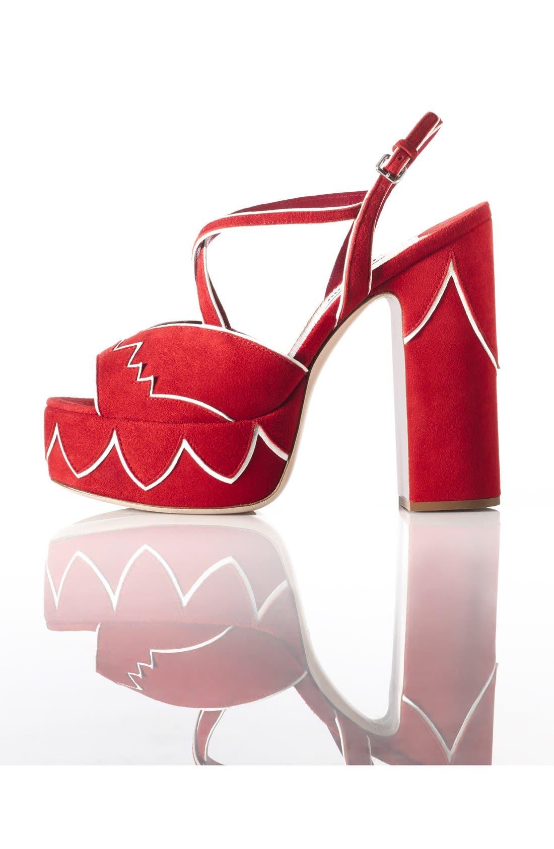 Alternate Image 5  - Miu Miu Platform Sandal (Women)