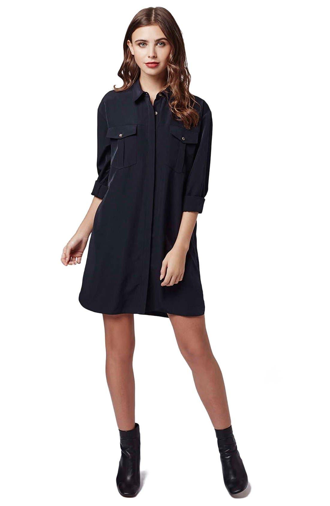 Alternate Image 2  - Topshop Oversize Shirtdress (Petite)